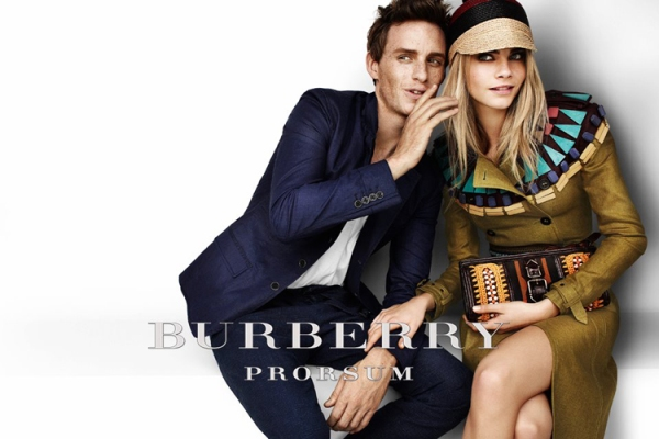 Burberry Cara and Eddie whisper