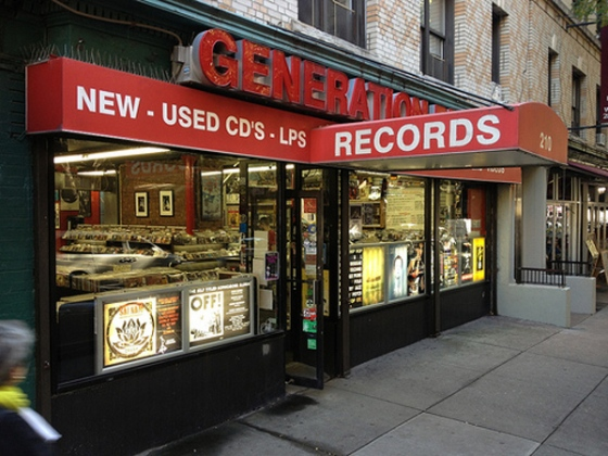 Generation Records, amazing record shop, Greenwich Village, New York City