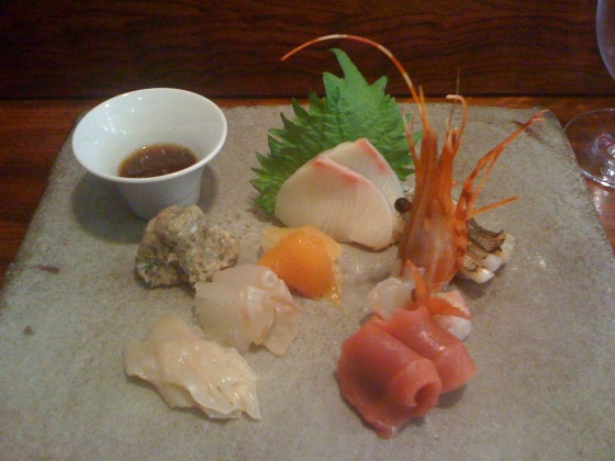 Michelin Star sashimi at 15 East, Union Square, Manhattan