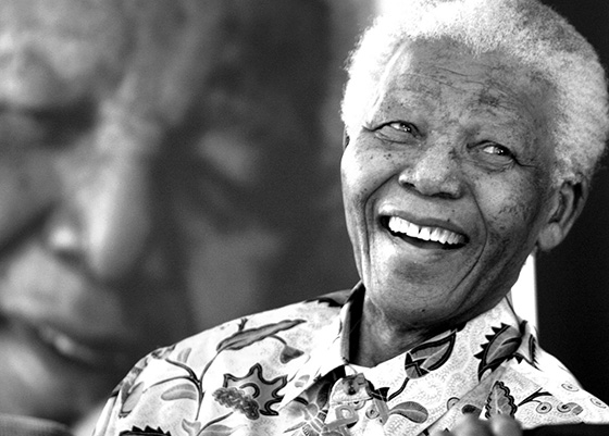 The irrepressible Nelson Mandela.